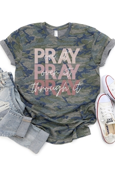 Picture of Pray Through It Camo Graphic Tee by FBT