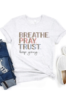 Picture of Breathe Pray Trust Graphic Tee by FBT